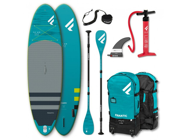 """Fanatic Fly Air Premium/C35 SUP Package 9'8"""" Inflatable Sup with Paddles and Pump"""